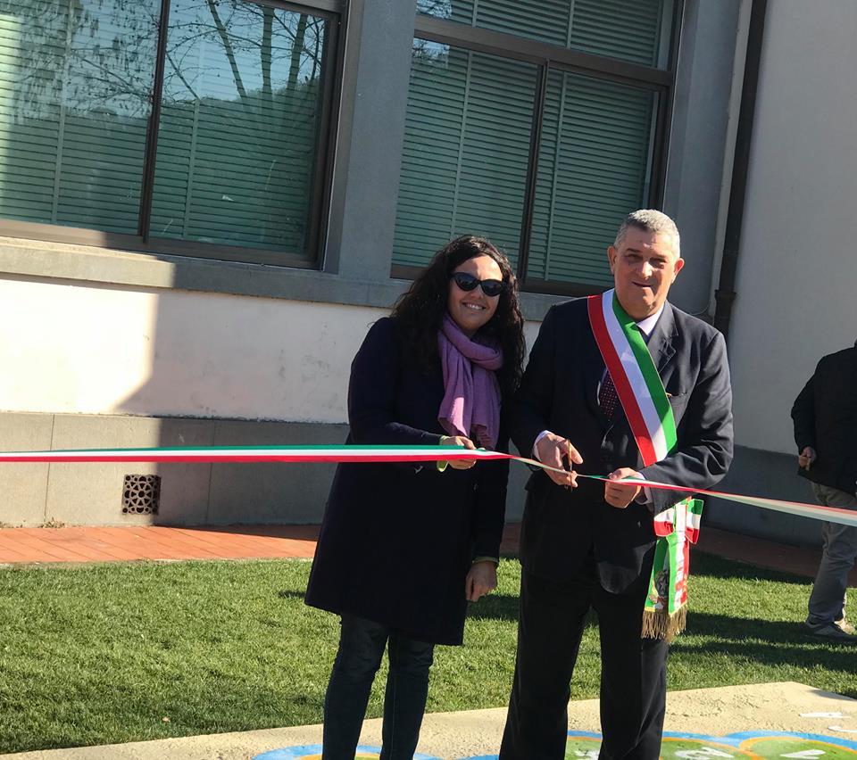 Inaugurato il nuovo parco della scuola di Stiava