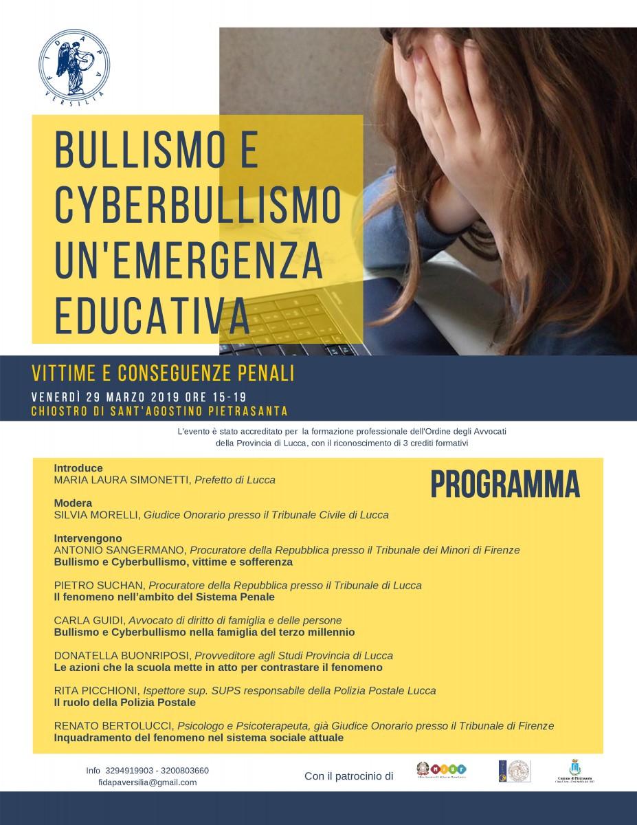 Bullismo e cyberbullismo: se ne parla a Pietrasanta