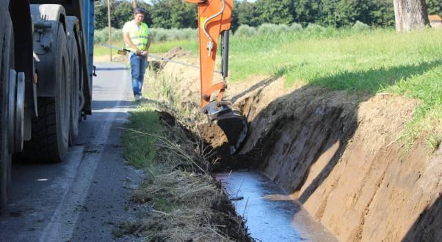 Via Pisanica e via Olmi, pulizia dei canali