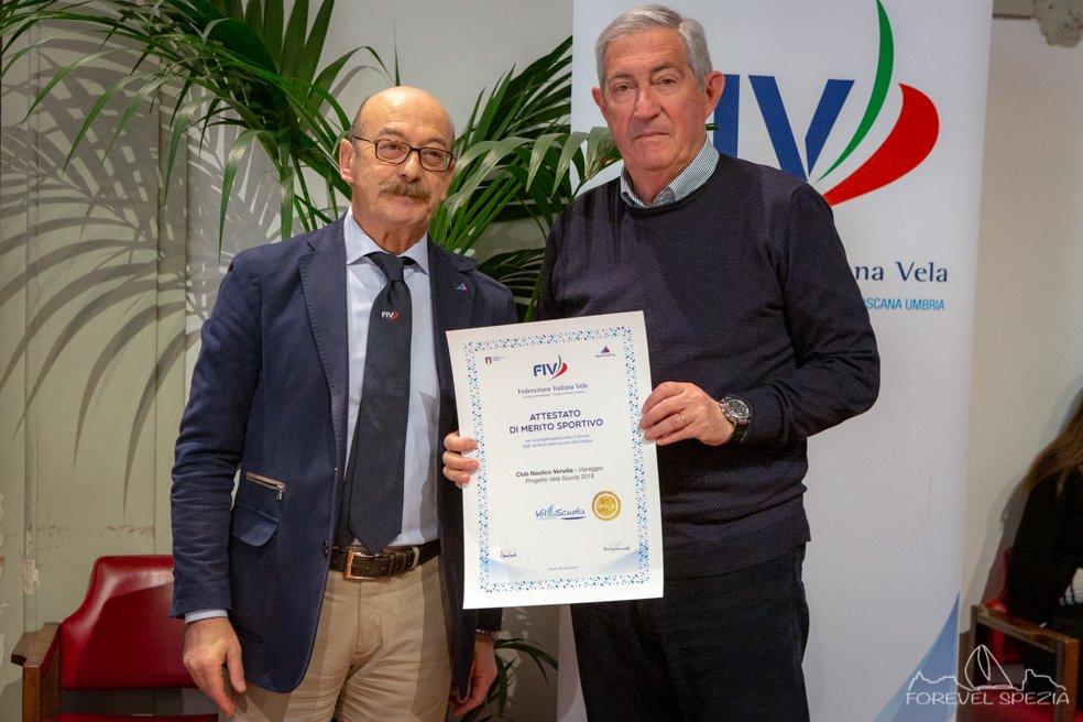 Il Club Nautico Versilia premiato a Firenze. A Manuel Scacciati la Borsa di Studio Etica