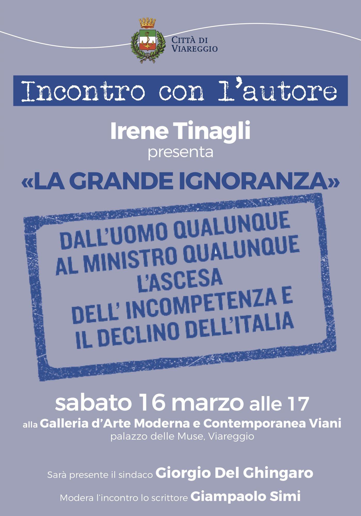 """""""La grande ignoranza"""",  Irene Tinagli alla Gamc"""