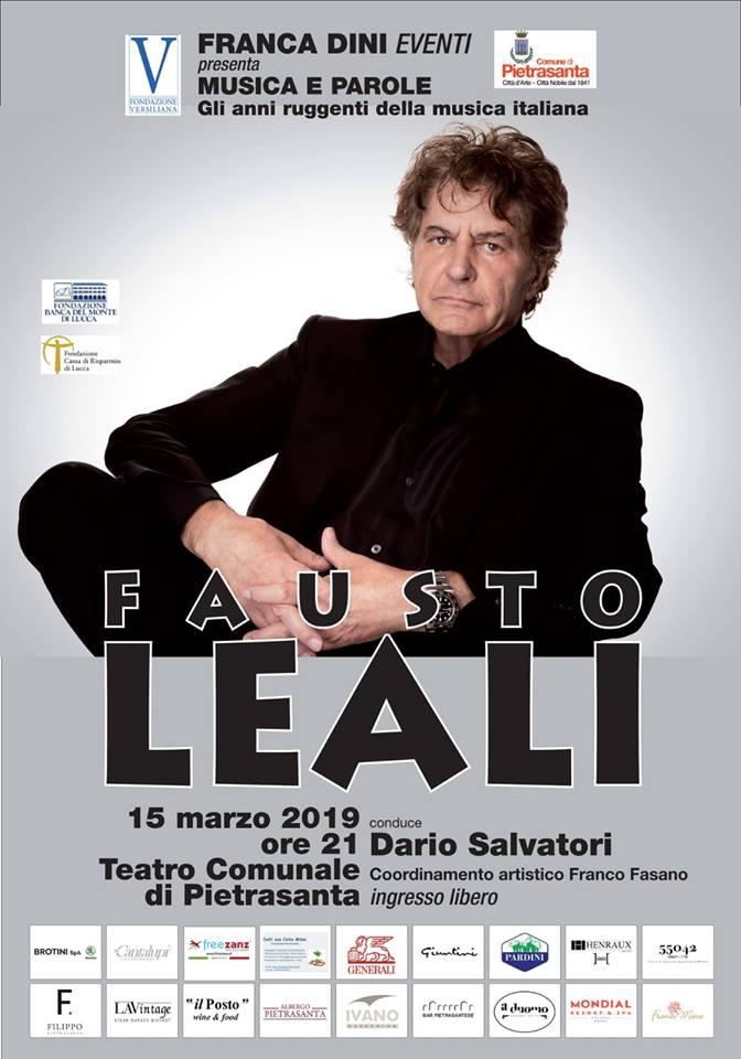 """Torna """"Musica e Parole"""", al Teatro Comunale c'è Fausto Leali"""