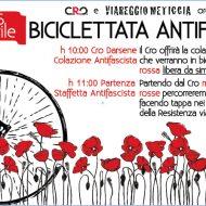 Biciclettata antifascista con Viareggio meticcia e il Cro
