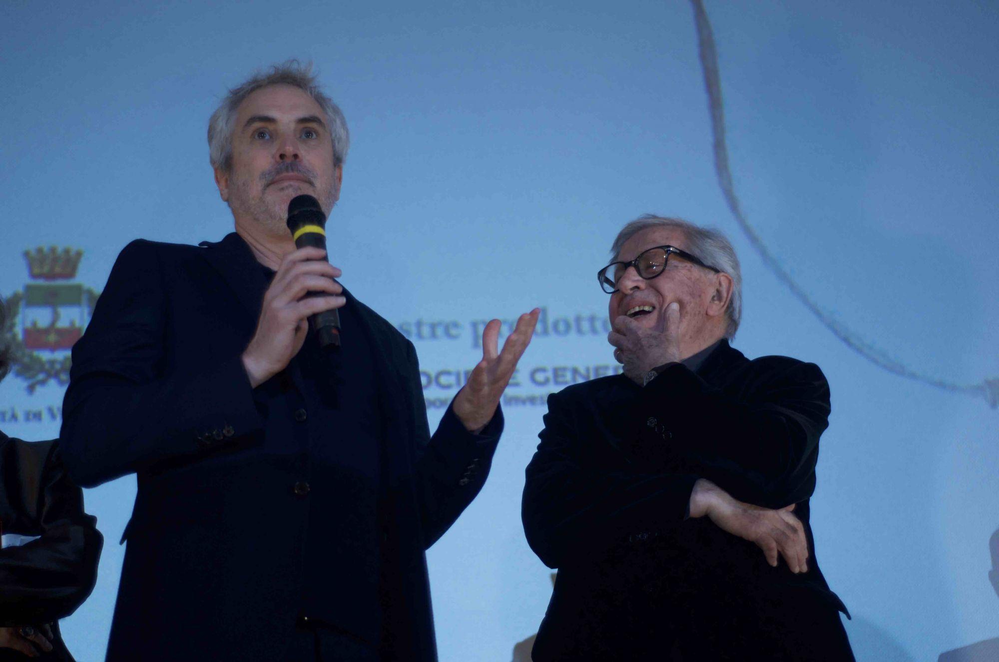 Paolo Taviani incontra il regista premio Oscar Alfonso Cuaron al Lucca Film Festival e Europa Cinema