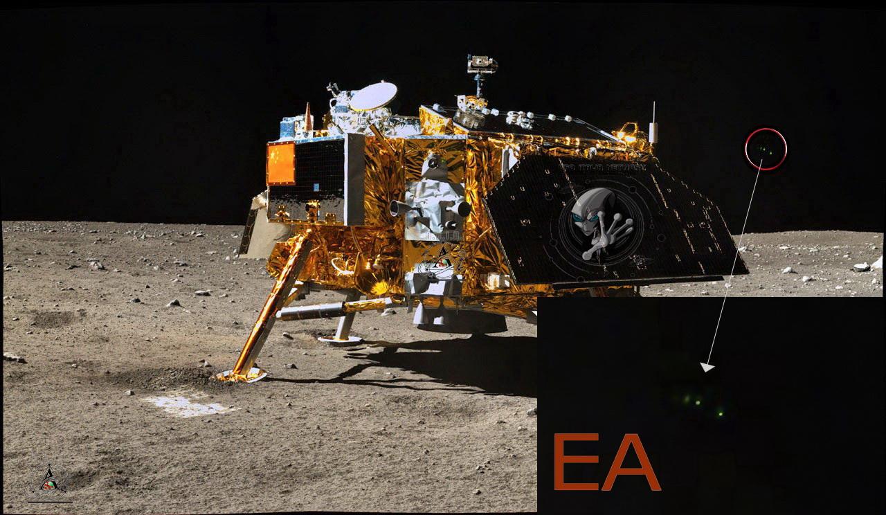 Luna: da Capannori esclusive foto di una presunta base e astronave aliena