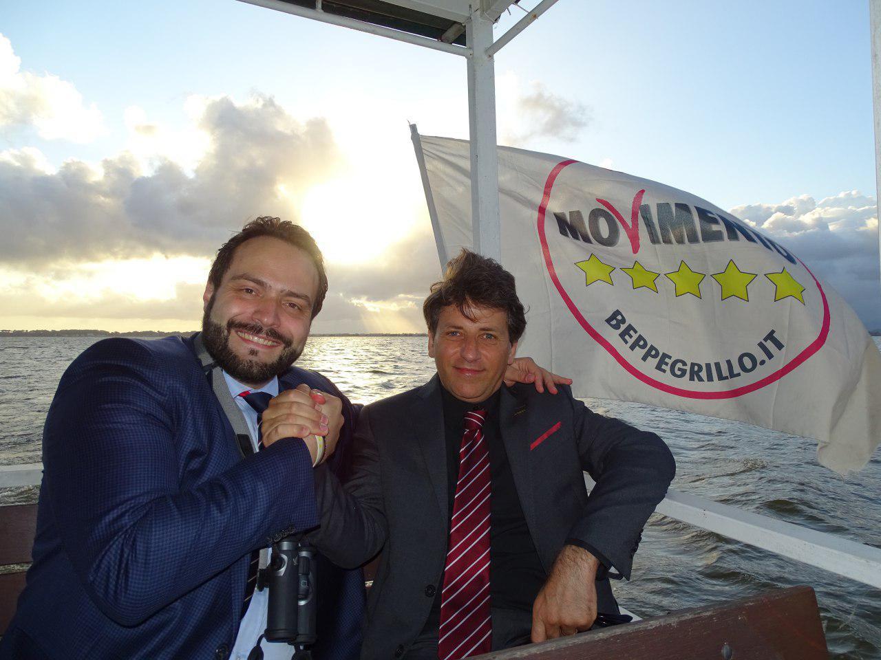 Visita al lago di Massaciuccoli con il vice presidente del Parlamento europeo