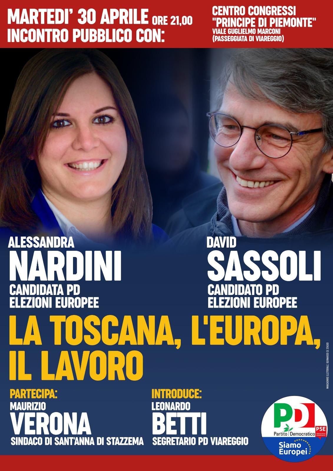 Pd, al Principe di Piemonte l'incontro con i candidati al Parlamento Europeo