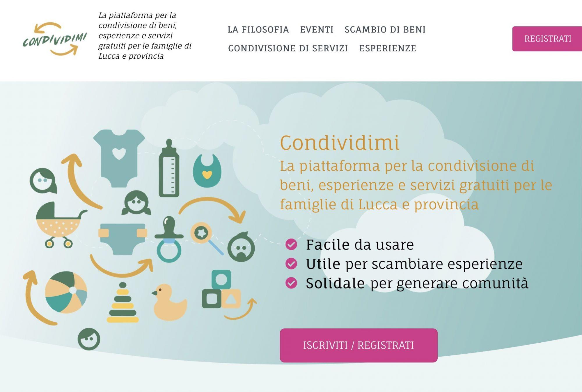 Condividimi, nasce la piattaforma di scambio servizi per l'infanzia
