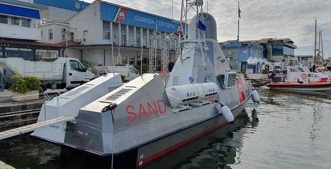 Il drone marino Sand al salone della nautica Yachting Rendez-vous