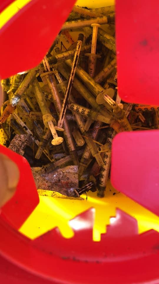 Pulizie di primavera in pineta di levante: trovati rifiuti di ogni genere e decine di siringhe