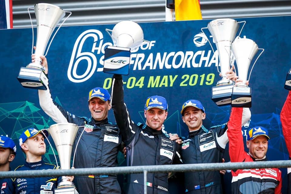 Riccardo Pera vince la 6 ore di Spa Francorchamps. Esulta il presidente di Aci Lucca