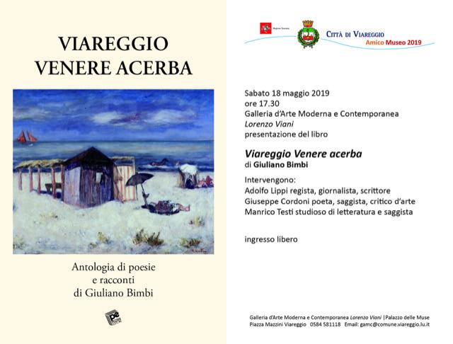 """""""Viareggio, Venere acerba"""": la presentazione del libro alla Gamc"""