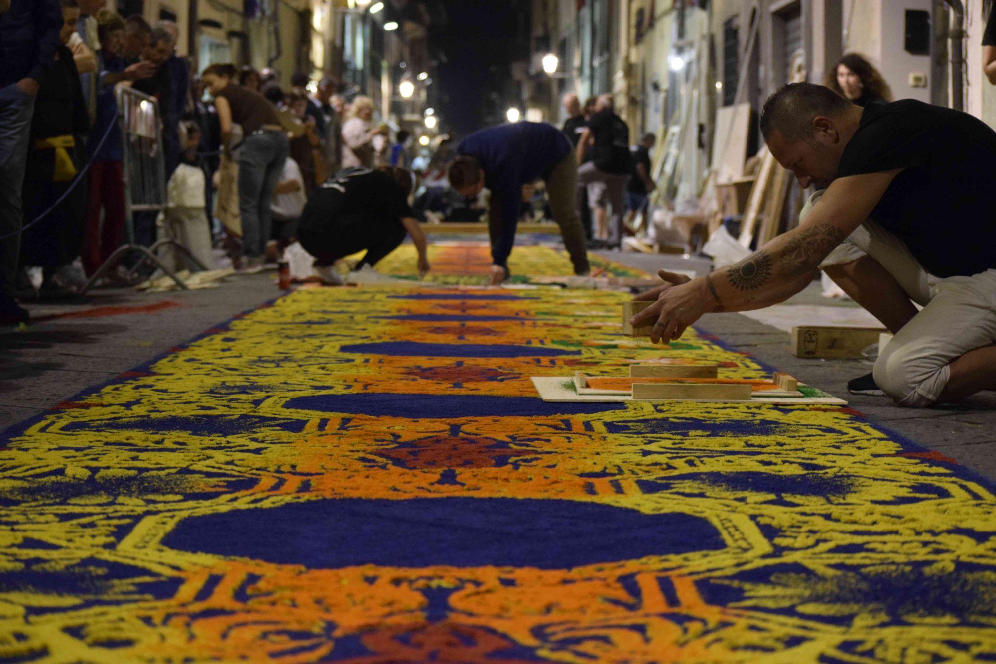 I tappeti di segatura di Camaiore a Barcellona