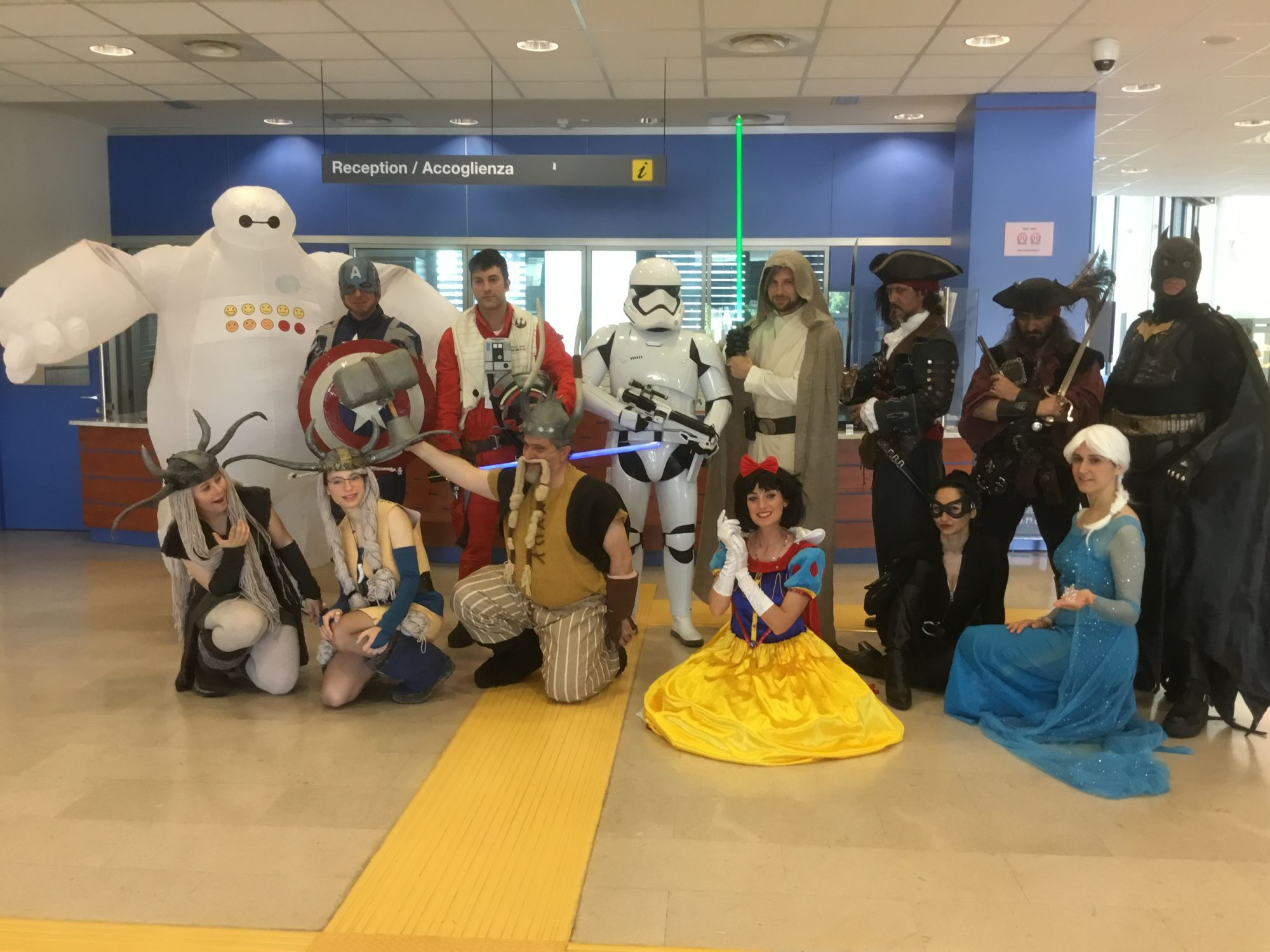 Tornano i supereroi in Pediatria all'ospedale di Lucca