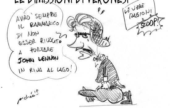 Le ragioni delle dimissioni di Veronesi dal Pucciniano nella vignetta di Vassalle