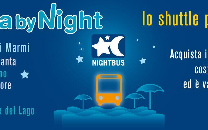 Bus sotto le stelle: una linea da Marina di Carrara a Forte dei Marmi e da qui a Viareggio