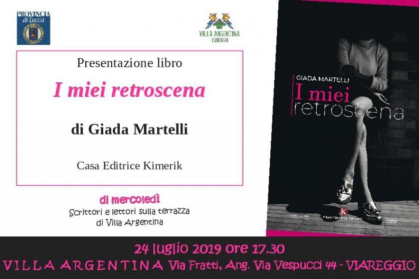 """A Villa Argentina """"I miei retroscena"""" di Giada Martelli"""