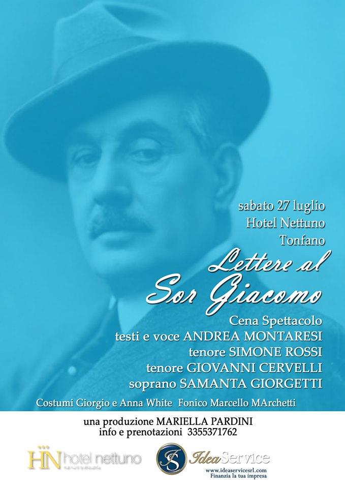 """""""Lettere al Sor Giacomo"""", evento dedicato a Puccini all'hotel Nettuno a Marina di Pietrasanta"""