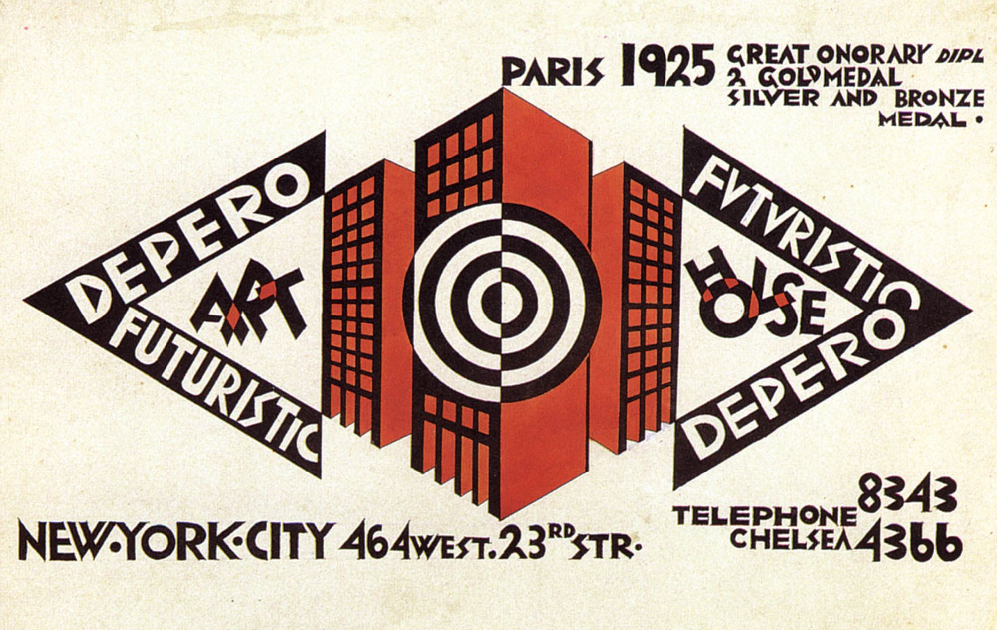 Futurist House 1929 mostra depero