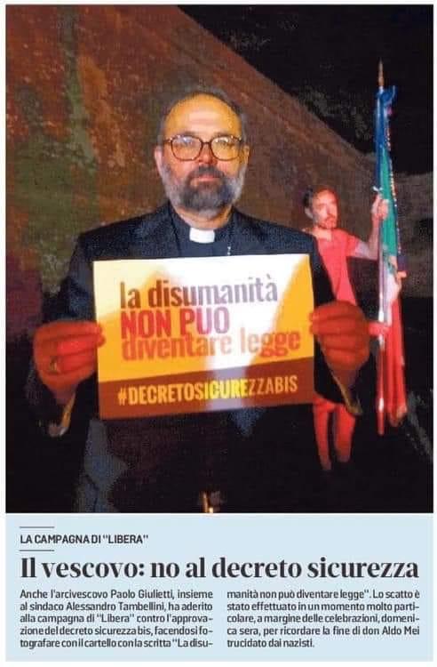 """""""Baldini critica il vescovo e gli dice di pensare alla chiesa, ma tace quando Salvini ringrazia la Madonna"""""""