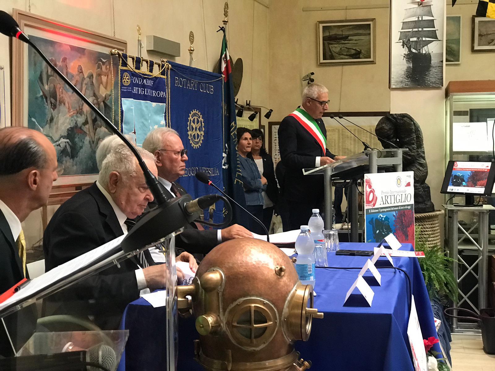 Premio Artiglio 2019, l'intervento del sindaco di Viareggio