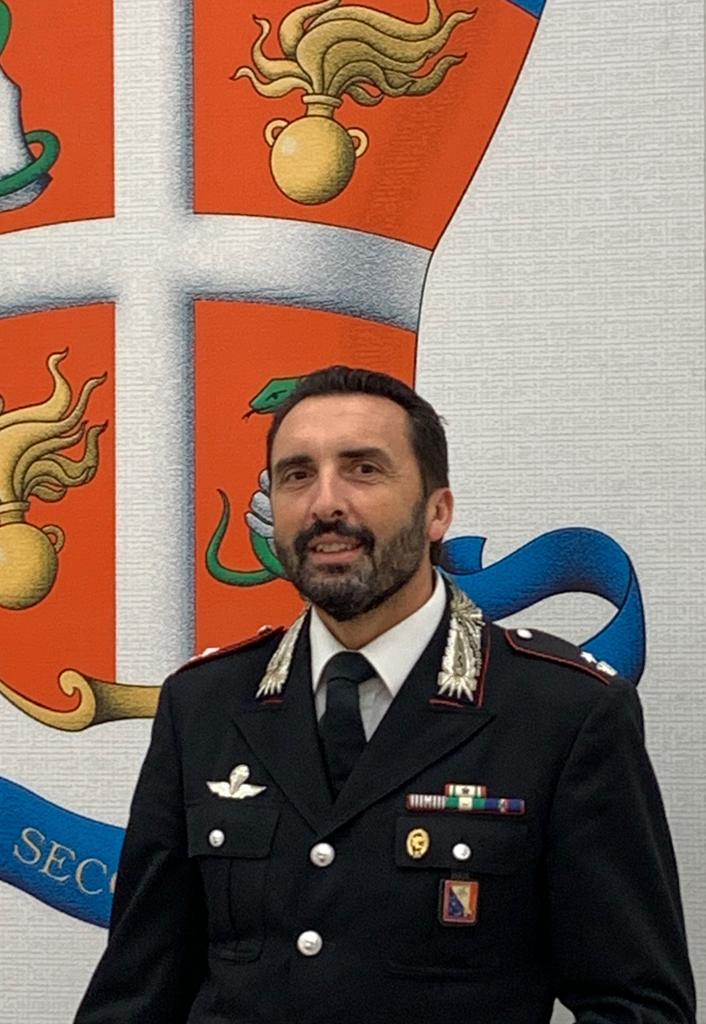 Il maggiore Roberto Ghiorzi al comando dei Carabinieri di Pontremoli