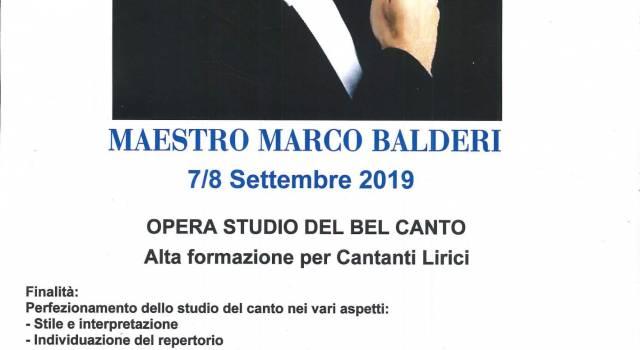 """La Masterclass """"Opera studio del bel canto alta formazione per cantanti lirici"""""""