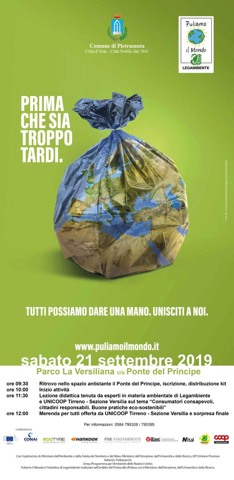 """Torna """"Puliamo il Mondo"""", baby volontari in azione in Versiliana"""