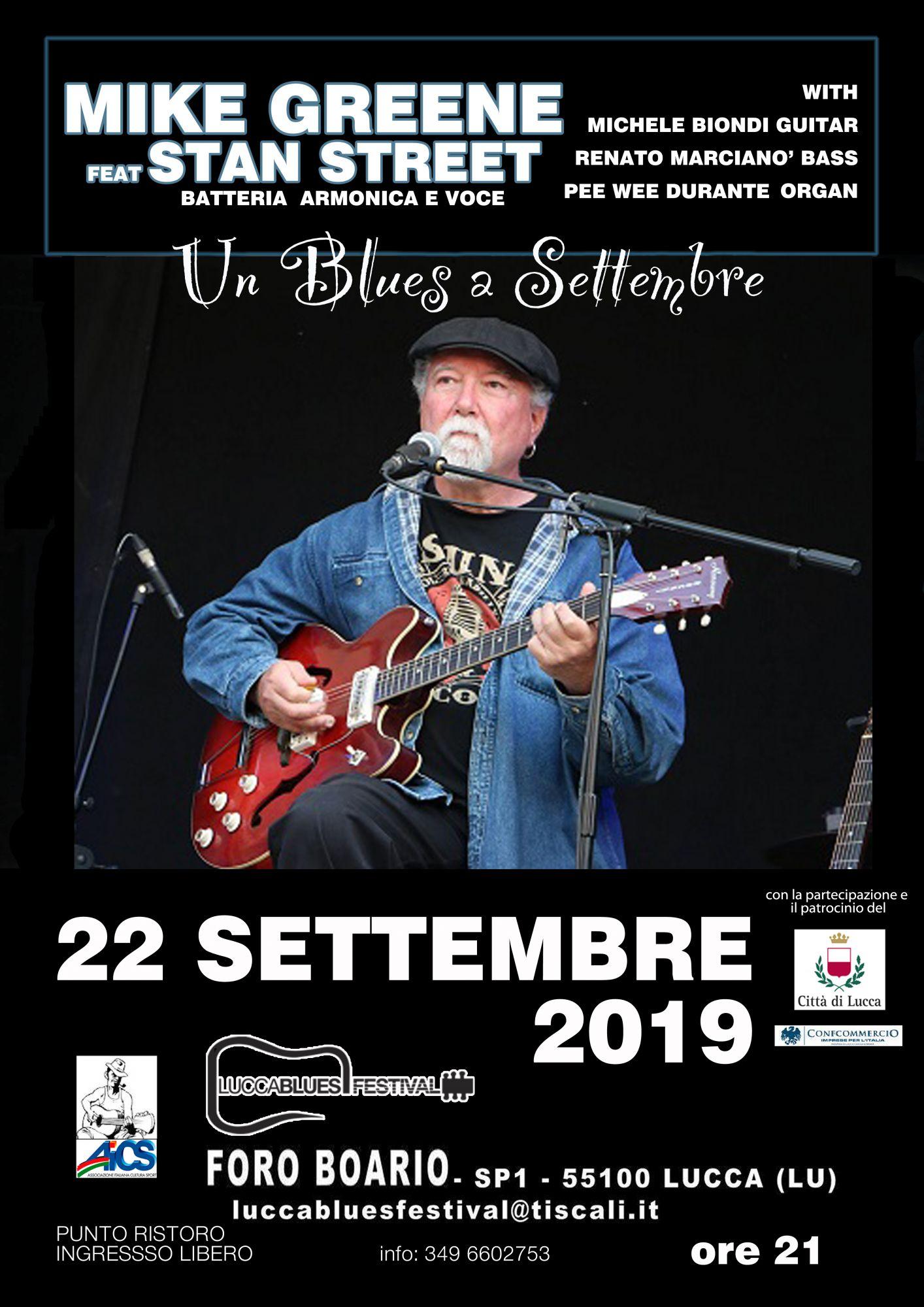 """""""Un blues a settembre"""": al Foro Boario una serata di musica con Mike Green"""