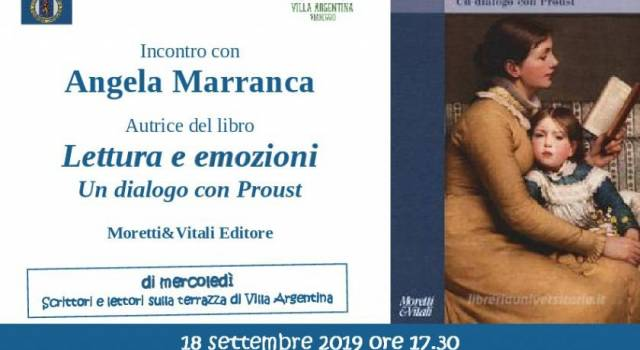 A Villa Argentina l'incontro con la psicologa Angela Marranca