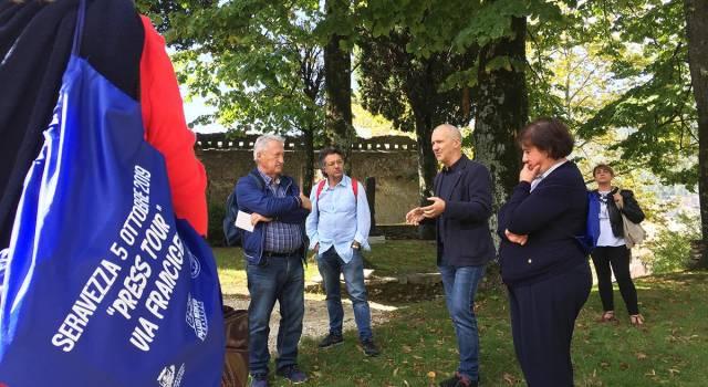 Successo per il press tour organizzato sabato lungo la via Francigena nella terra di Michelangelo
