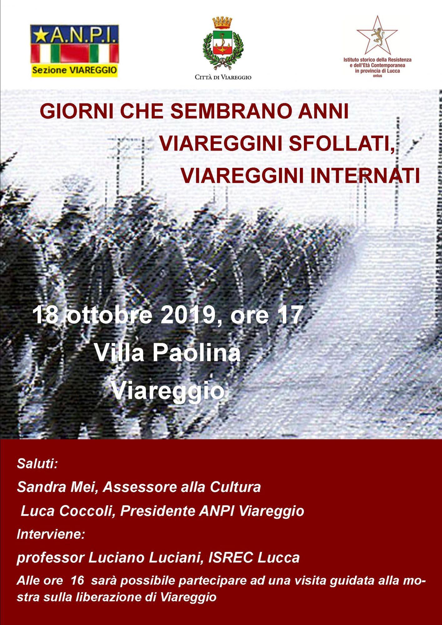 Liberazione, iniziative dell'Anpi a Villa Paolina