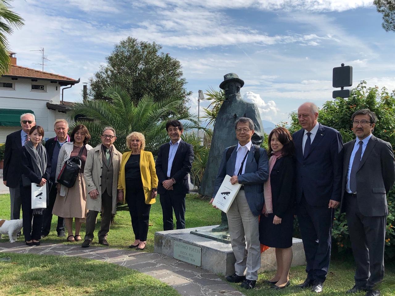 Una delegazione di Nagasaki in visita a Torre del Lago, la terra di Puccini