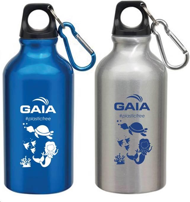 Da novembre nelle scuole le borracce plastic free di Gaia