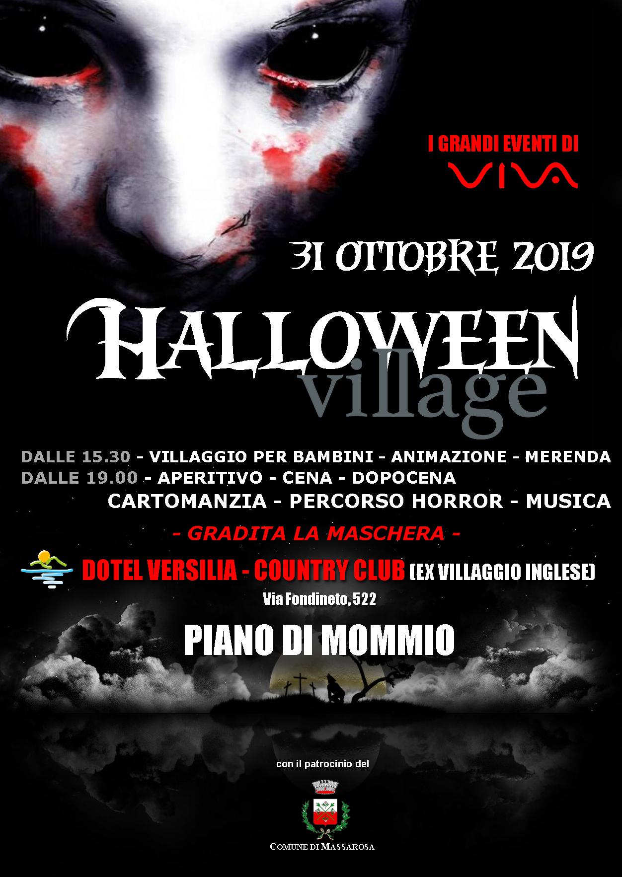 Doppia festa per Halloween a Massarosa: festa in maschera a Massaciuccoli, Villaggio dell'Orrore a Piano di Mommio
