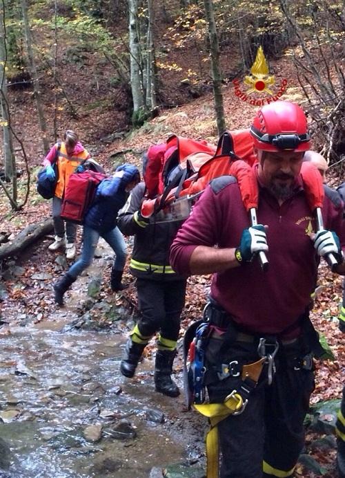 Perdersi nei boschi, i consigli dei vigili del fuoco