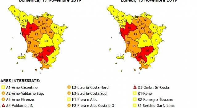 Maltempo, è ancora allerta: codice rosso in alcune zone della Toscana, massima attenzione