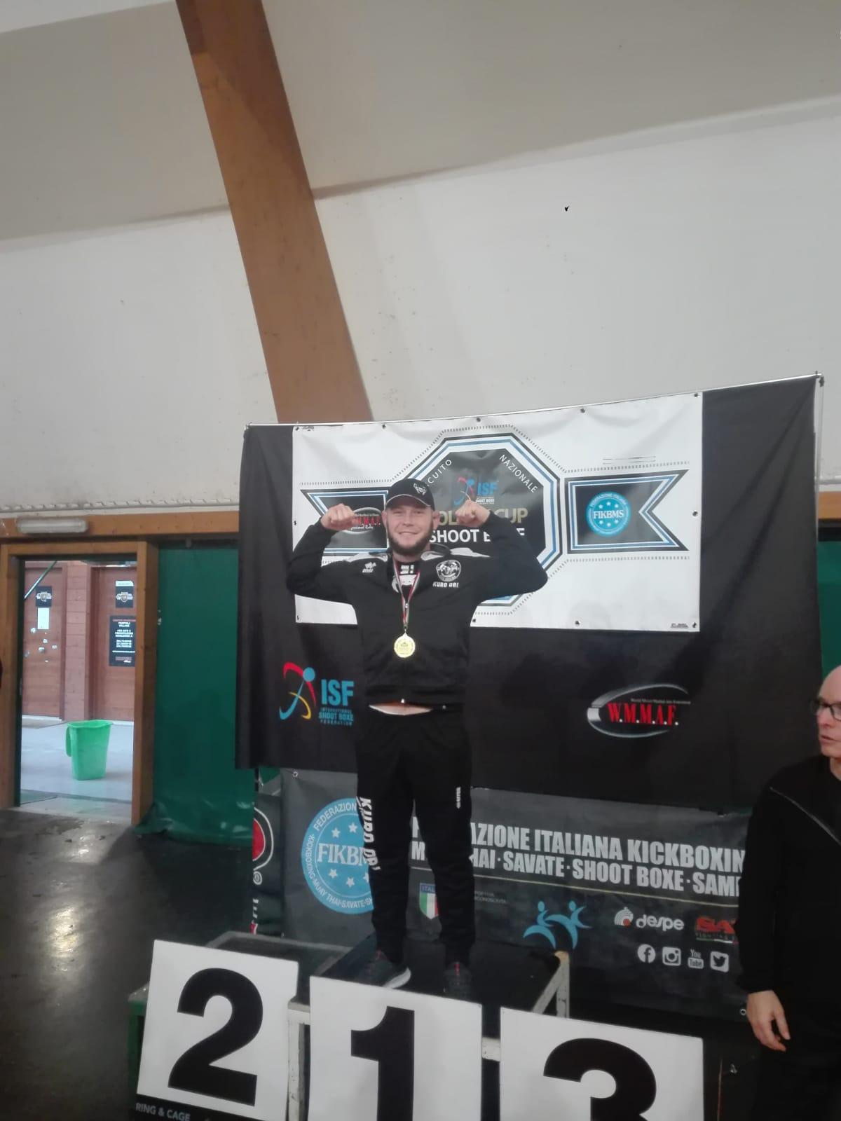 Successo nella prima tappa della Golden Cup per Andrea Dorin della Kuro Obi Fight Academy