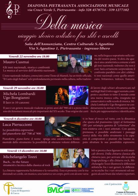 """Quattro storie musicali nel Chiostro, gli eventi promossi da """"Diafonia"""""""