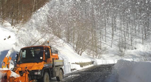 Maltempo, prima neve in alta Garfagnana