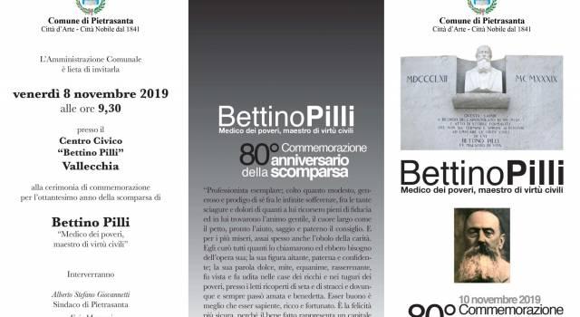 Pietrasanta ricorda il medico dei poveri Bettino Pilli