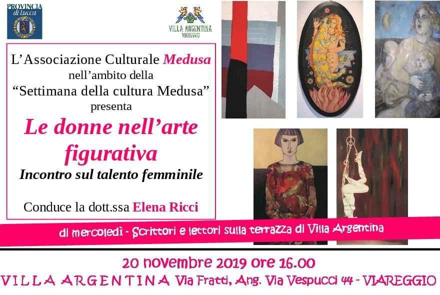 """A Villa Argentina l'incontro """"Talento al femminile,  le donne nell'arte figurativa"""" con Elena Ricci"""