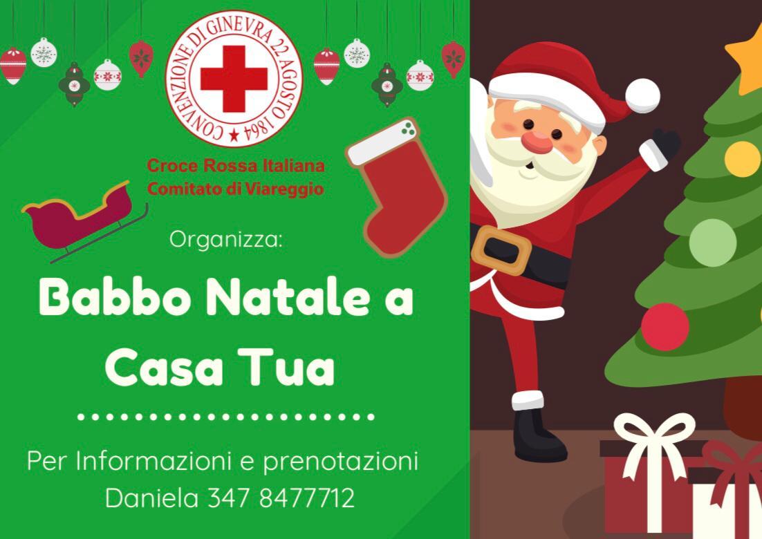 Babbo Natale a casa la sera della Vigilia con la Croce Rossa