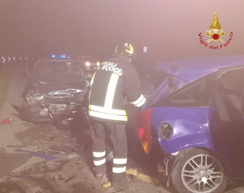 Violento scontro alla Bufalina, tre auto coinvolte