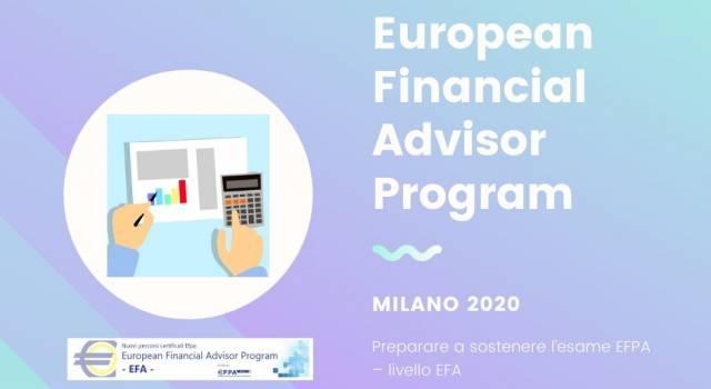 Al via il corso EFA Milano 2020 per accedere all'esame di qualificazione