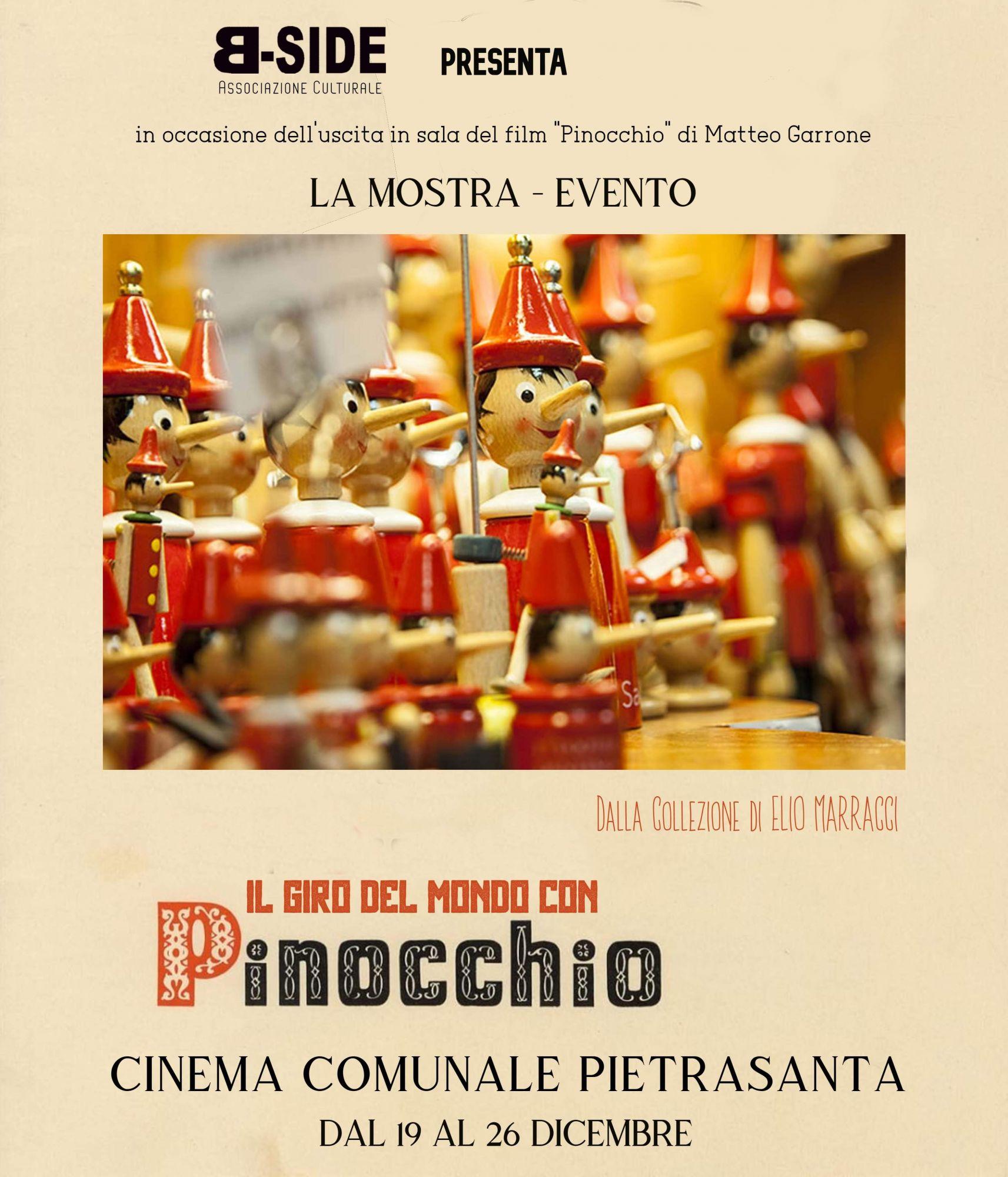 Pinocchio, mostra inedita a Pietrasanta