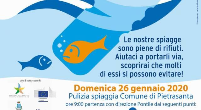 """Ambiente: su spiaggia Pietrasanta più grande raccolta collettiva di rifiuti, già 500 adesioni a """"Mare d'Inverno"""""""