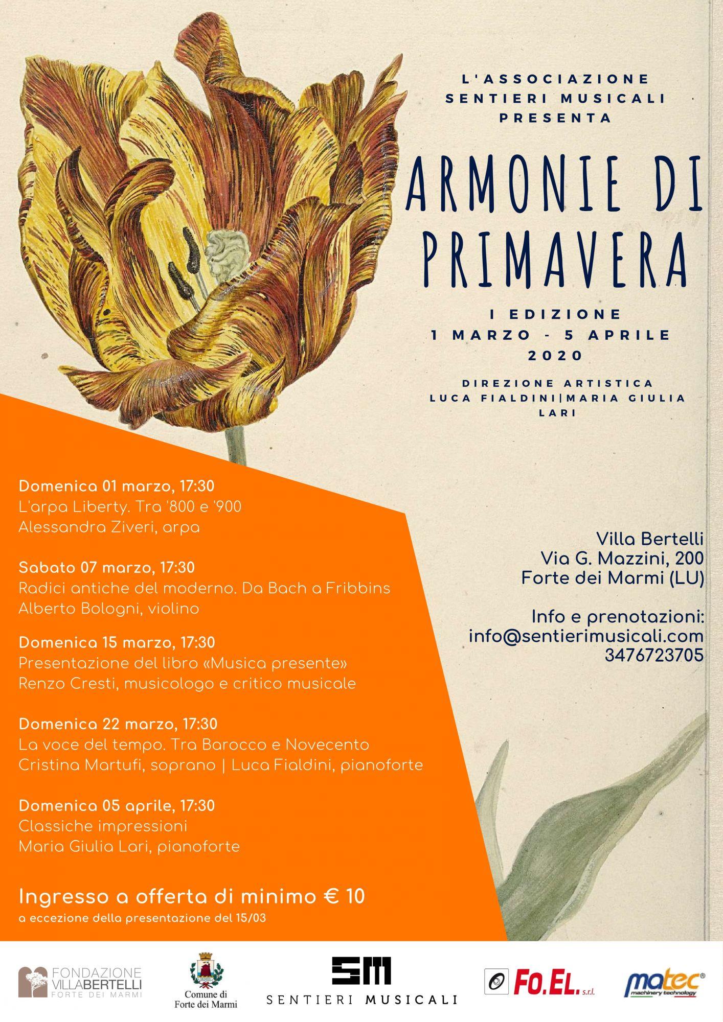 Villa Bertelli presenta Armonie di primavera