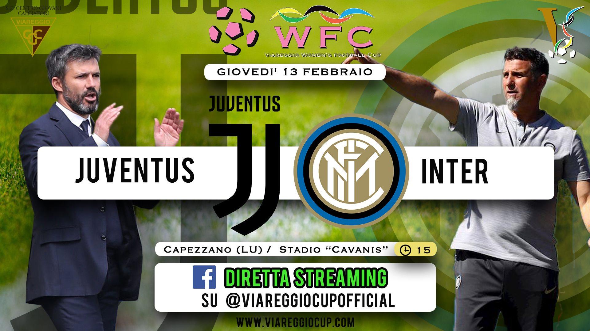Viareggio Women's Cup, Juventus-Inter in diretta su facebook