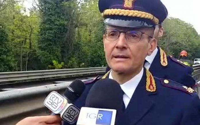 Ultimo giorno da comandante regionale alla Polstrada, il dottor Pomponio ringrazia la stampa